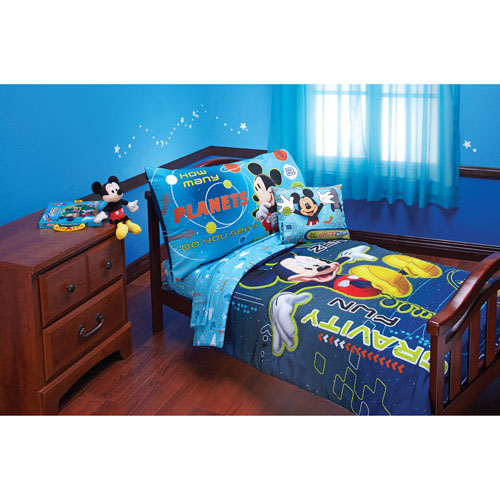 Mickey Mouse Bedding Set - 4pc Toddler Bed