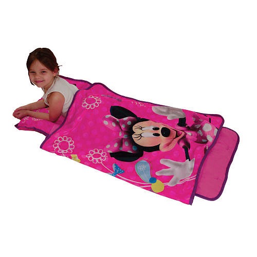 Minnie Mouse Clubhouse Bows Toddler Nap Mat Sleeping Roll