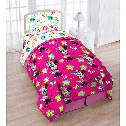 5pc Disney Minnie Mouse Twin Bedding Set