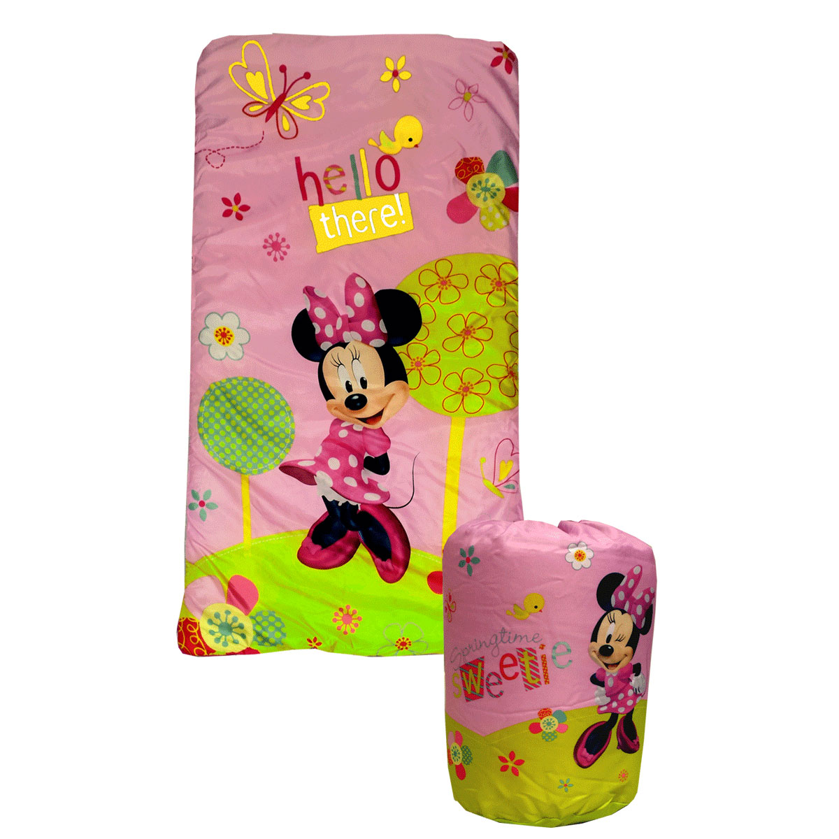 2pc Disney Minnie Mouse Sleeping Bag Backpack Set