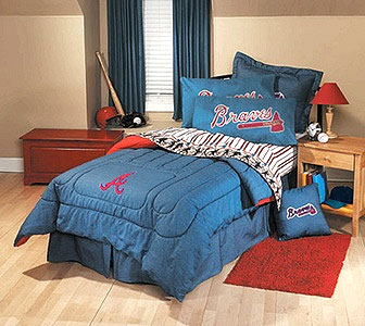 Mlb Baseball Atlanta Braves 4pc Bedding Sheet Set