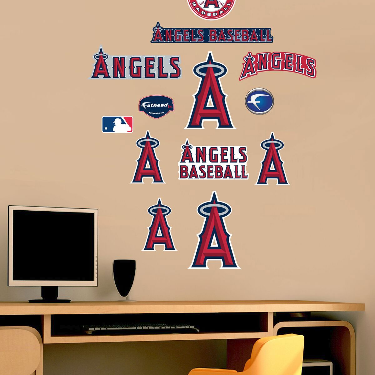 MLB Los Angeles Angels Fathead Jr - Baseball Team Logo Wall Stickers Assortment FH15-15220