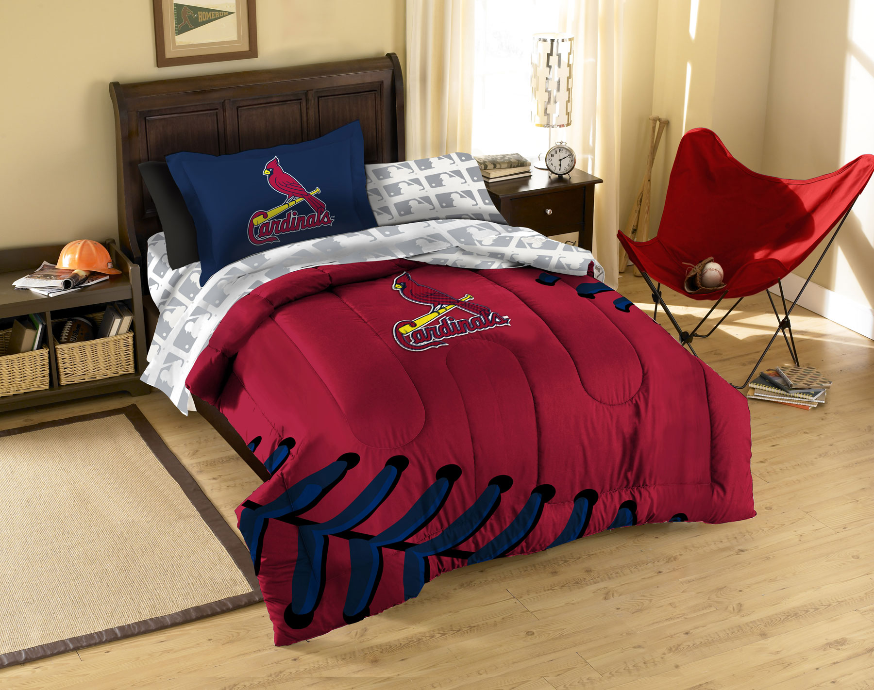 5pc MLB St Louis Cardinals Baseball Twin Bedding Set