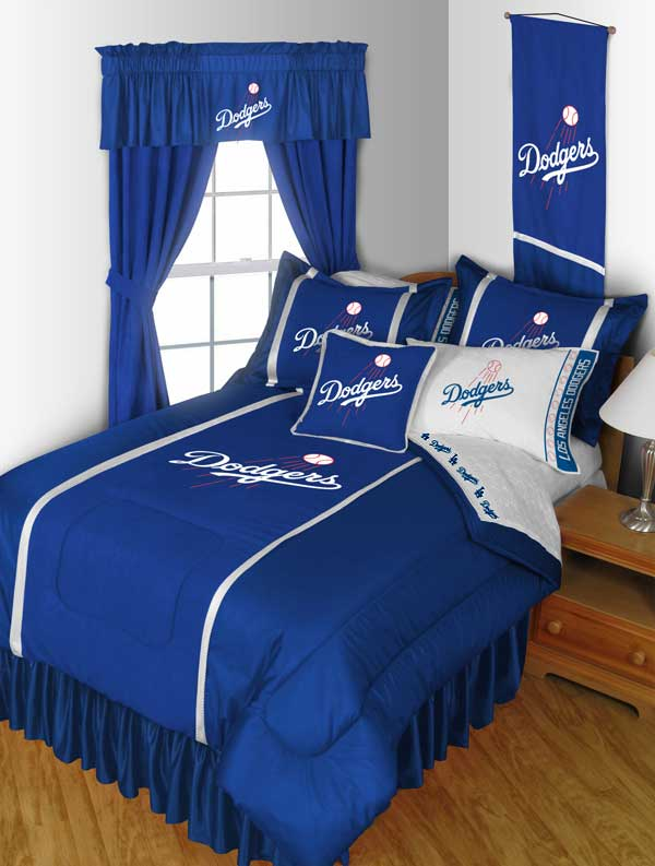 Los Angeles Dodgers Sham - MLB Baseball Pillow Cover 03JSSHM3DODSTAN