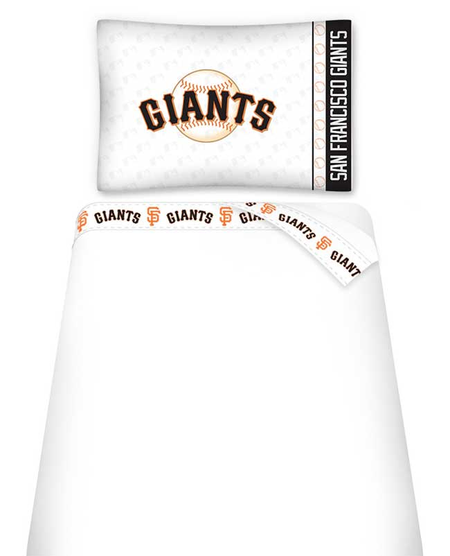 MLB Giants Twin Bed Sheets - San Francisco Baseball Sheet Set Twin Bed 03MFSHS3GIATWIN