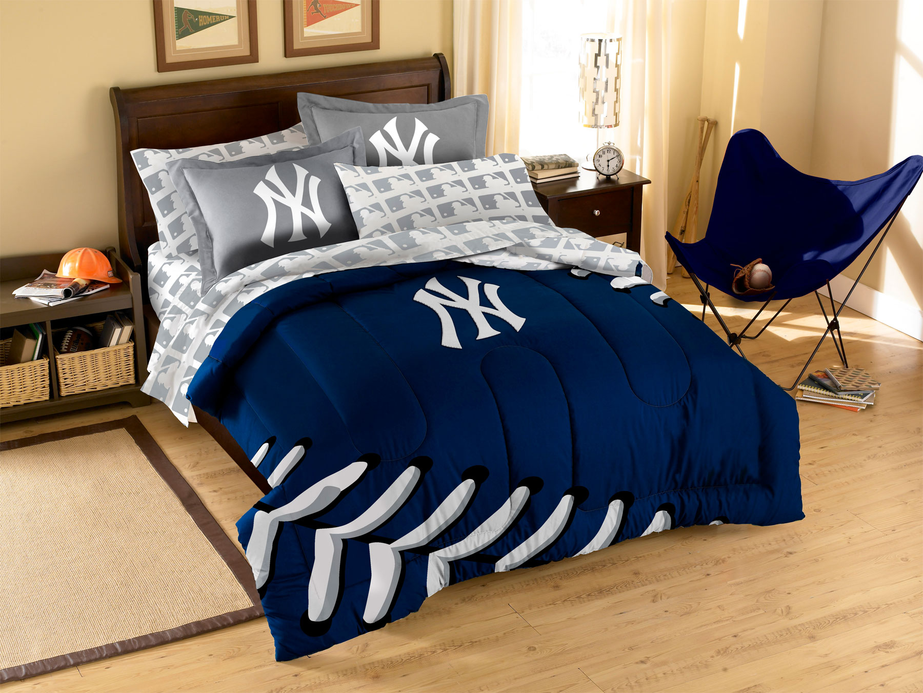 york yankees full bedding set mlb ny baseball comforter sheets decor