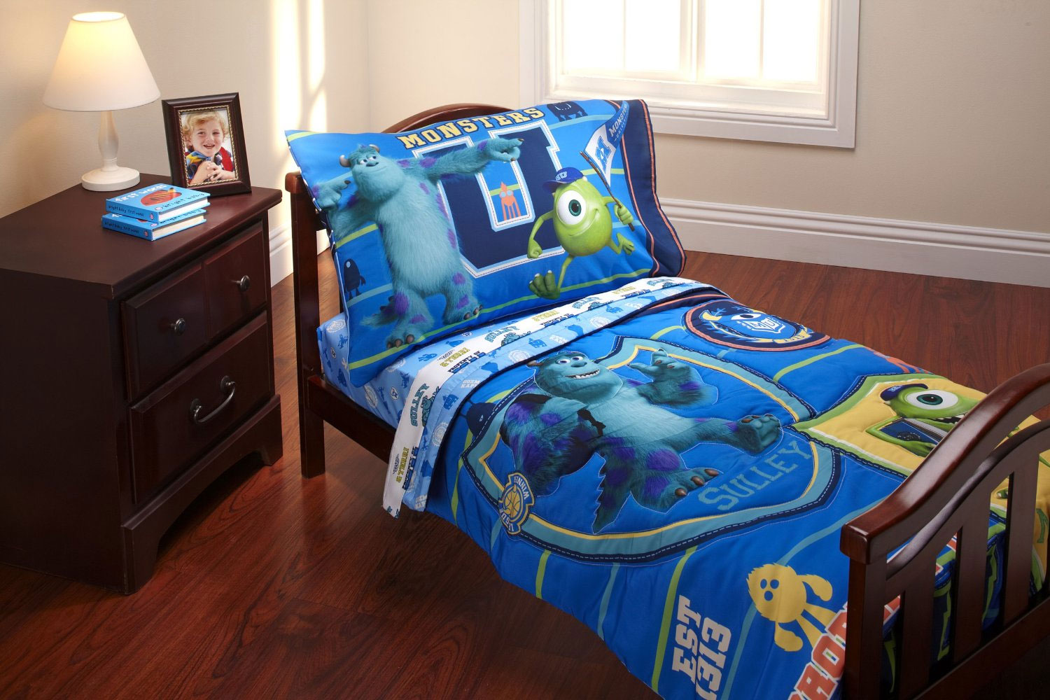 Disney Monsters Inc Toddler Bedding Set 4pc Mike Sulley