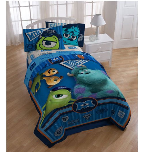 details about 3pc monsters inc scare university twin bed sheet set