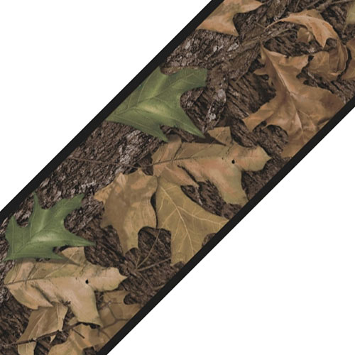 Mossy oak camo wall border roll leaves self stick accent for Camouflage wall mural