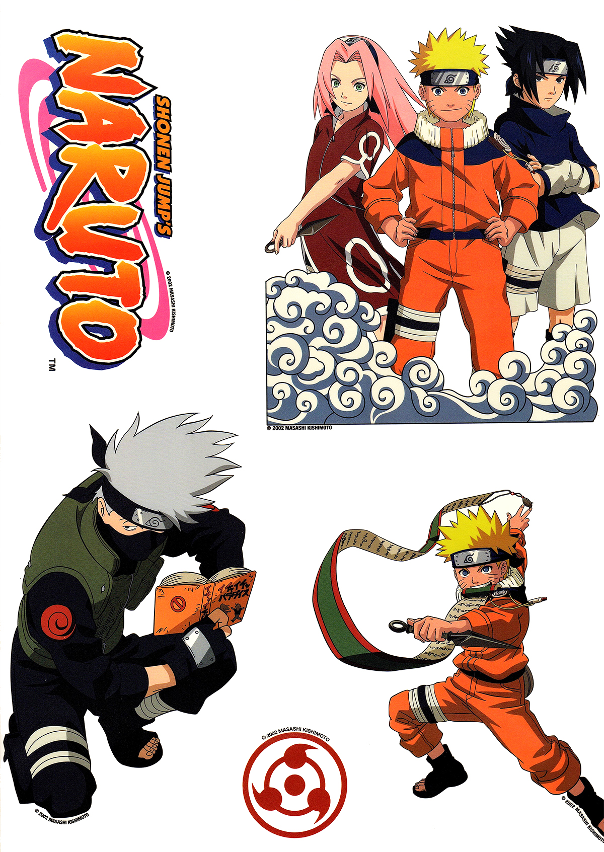 Naruto decals anime wall stickers shonen naruto wall for Mural naruto