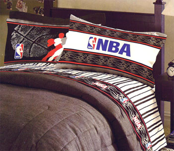 This NBA basketball bedding is ultra