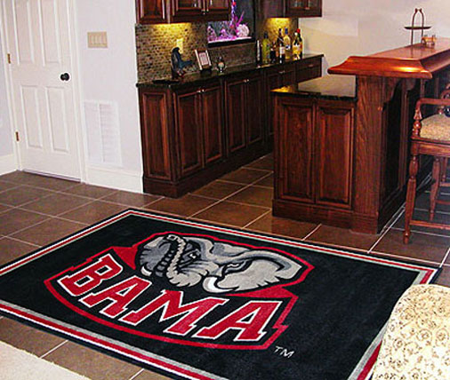 Alabama Crimson Tide Area Rug - NCAA Large Accent Floor Mat