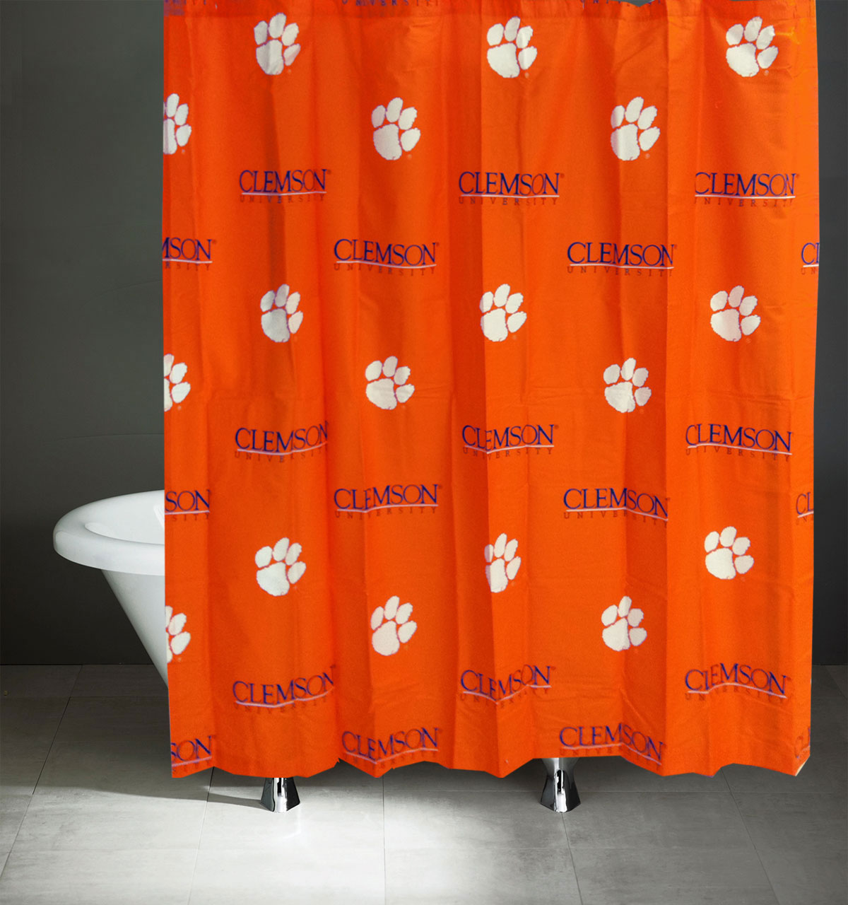 Ncaa Clemson Tigers Full Bed Set Orange Cotton Bedding: NCAA Clemson Tigers Shower Curtain Bathroom Decoration