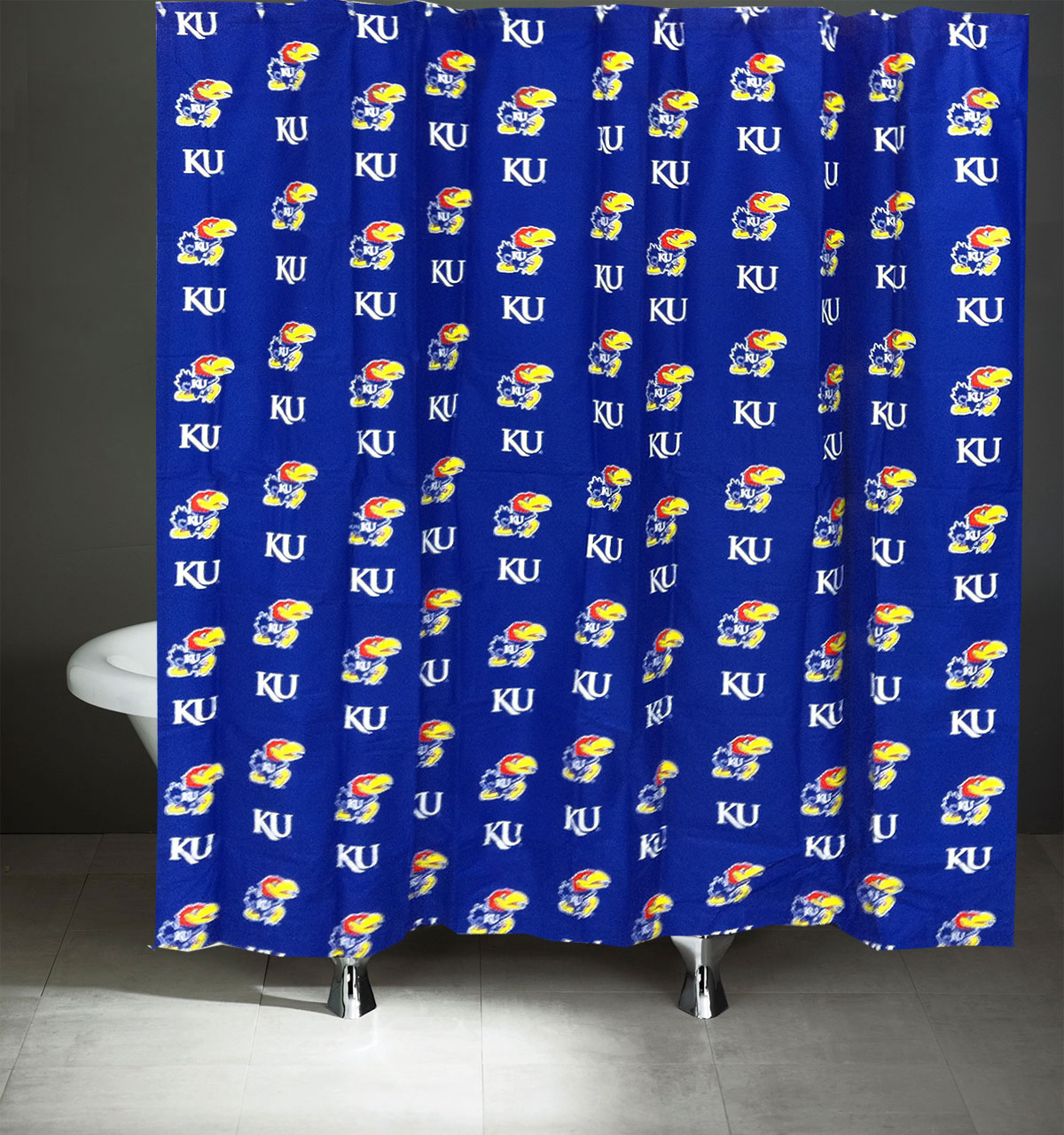 Kansas Jayhawks Shower Curtain