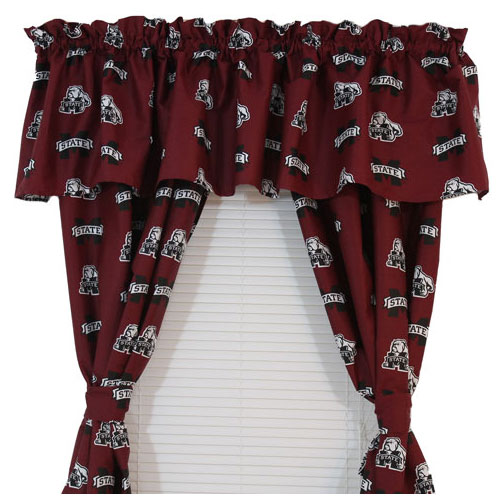 Mississippi | Valance | Bulldog | Window | Accent | Decor | State | NCAA | Logo