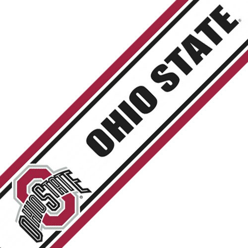 NCAA Ohio State Buckeyes Prepasted Wallpaper Border Roll at Sears.com