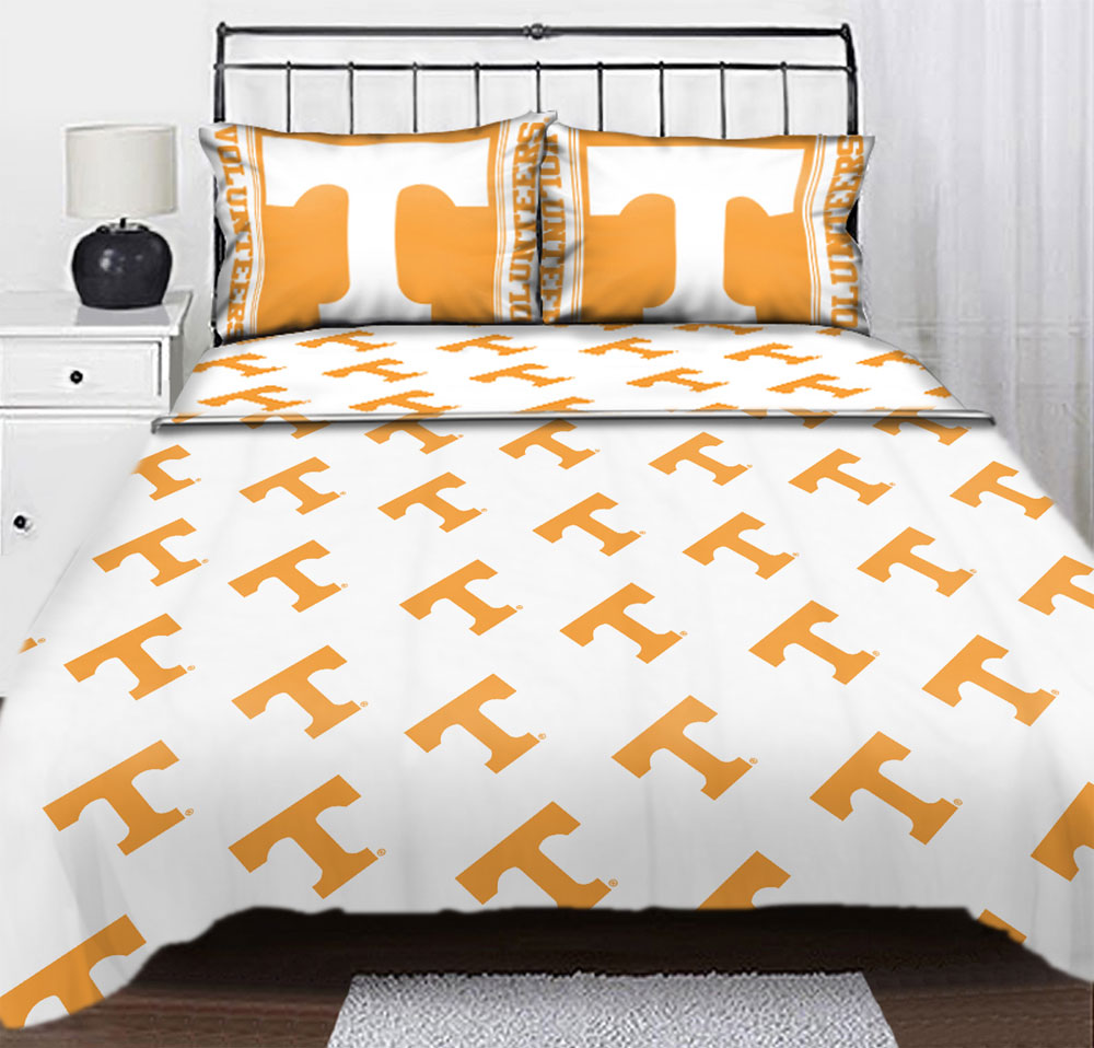 NCAA Tennessee Volunteers Logo Full Sheet Set - College Sheets Full-Double Bed