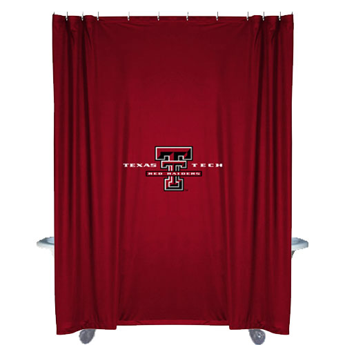 NCAA Texas Tech Red Raiders Shower Curtain - Football Bathtub Fabric ...