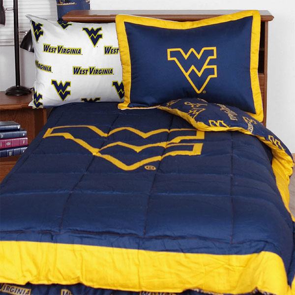 NCAA West Virginia Mountaineers 5pc Collegiate Twin XL Bed Set at Sears.com