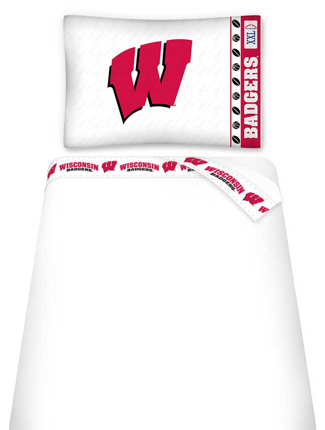 Wisconsin Badgers Bedding Twin Bed