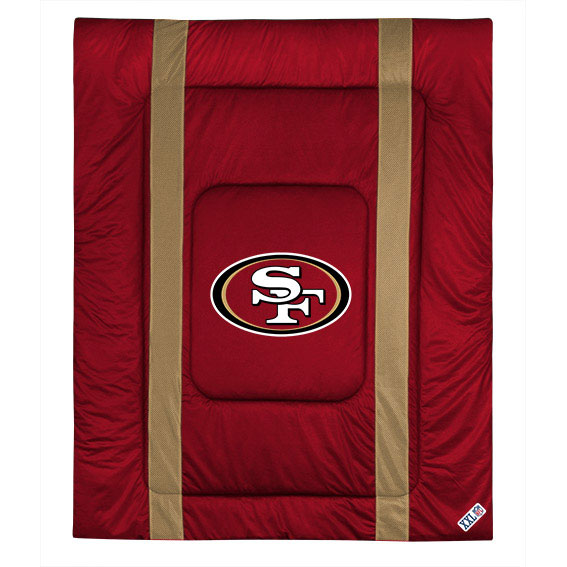 NFL San Fransisco 49ers Comforter Football Bed