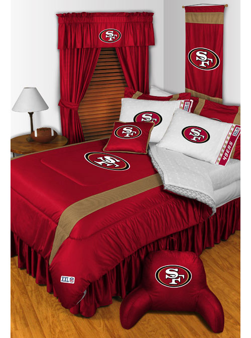 new 2pc nfl san francisco 49ers pillowcases football decor. Black Bedroom Furniture Sets. Home Design Ideas