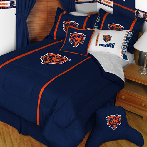 NFL NFL Chicago Bears Comforter Pillow Sham MVP Bed Set