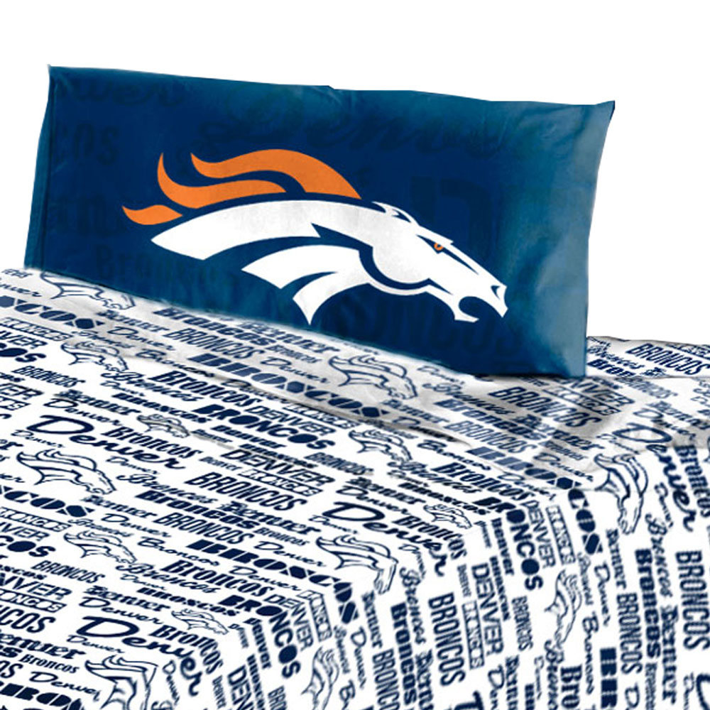 NFL Denver Broncos Sheet Set Anthem Sheets Twin Bed