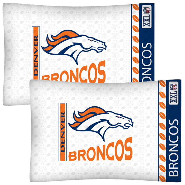 NFL Denver Broncos Football Set of Two Pillowcases