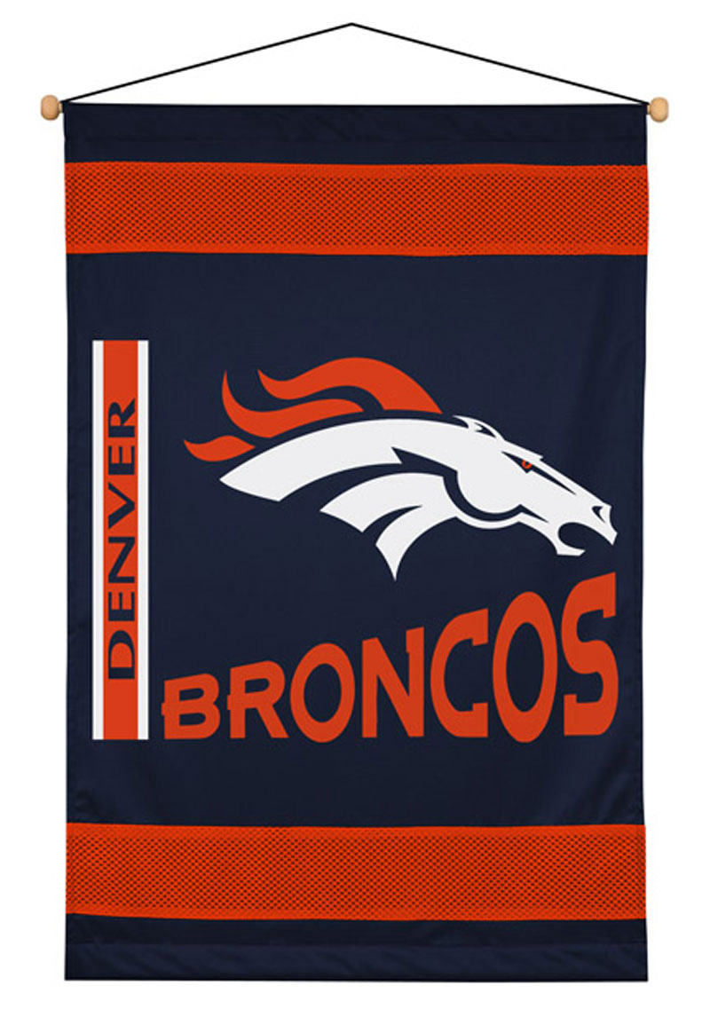 NFL Denver Broncos - Football Team Logo Wall Hanging-Décor Accent
