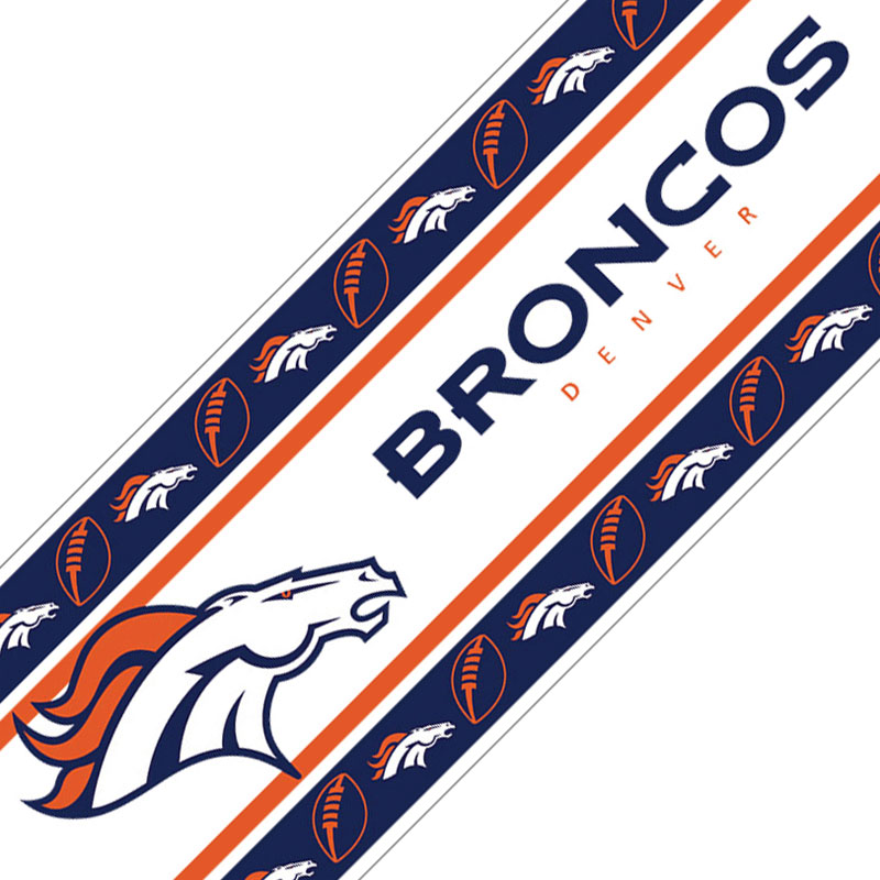 NFL Denver Broncos Wall Border - Football Peel-n-Stick Roll