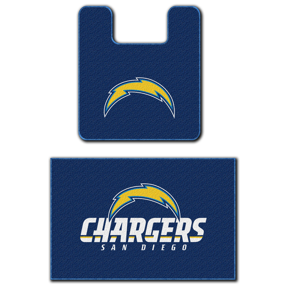 NFL San Diego Chargers Bath Mat Set Football Bathroom Rugs at Sears.com