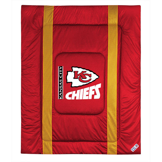 NFL Kansas City Chiefs Comforter Sideline Football Bed