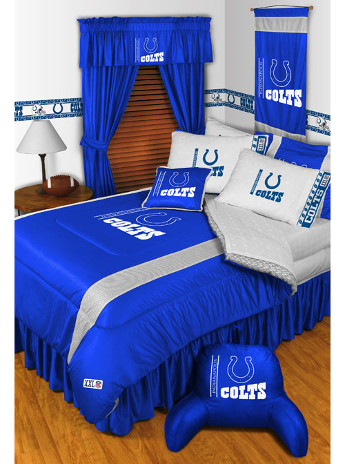 Nfl indianapolis colts football set of two pillowcases for Colts bedroom ideas