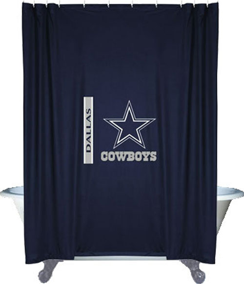 nEw NFL DALLAS COWBOYS Decorative SHOWER CURTAIN - Football Bathroom ...