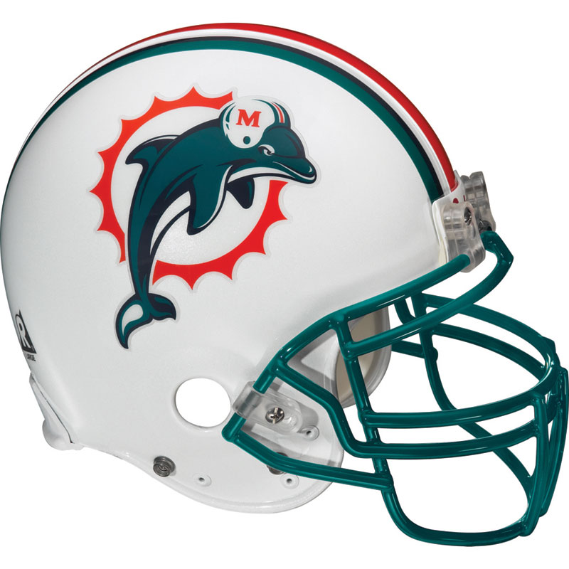 NFL Miami Dolphins Wall Accent - Football Helmet Wall Mural-Stickers    Dolphins Helmet Logo
