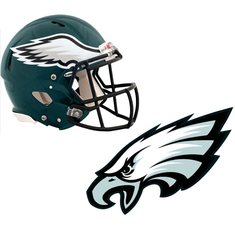 Nfl Philadelphia Eagles Wall Sticker Set 4pc Football