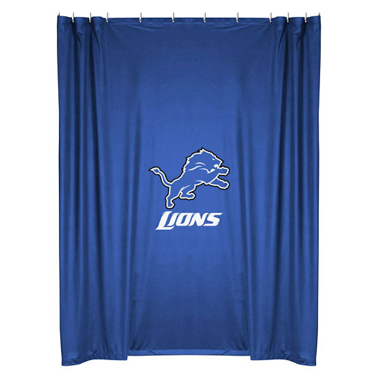 Nfl detroit lions shower curtain football bathroom for 49ers bathroom decor
