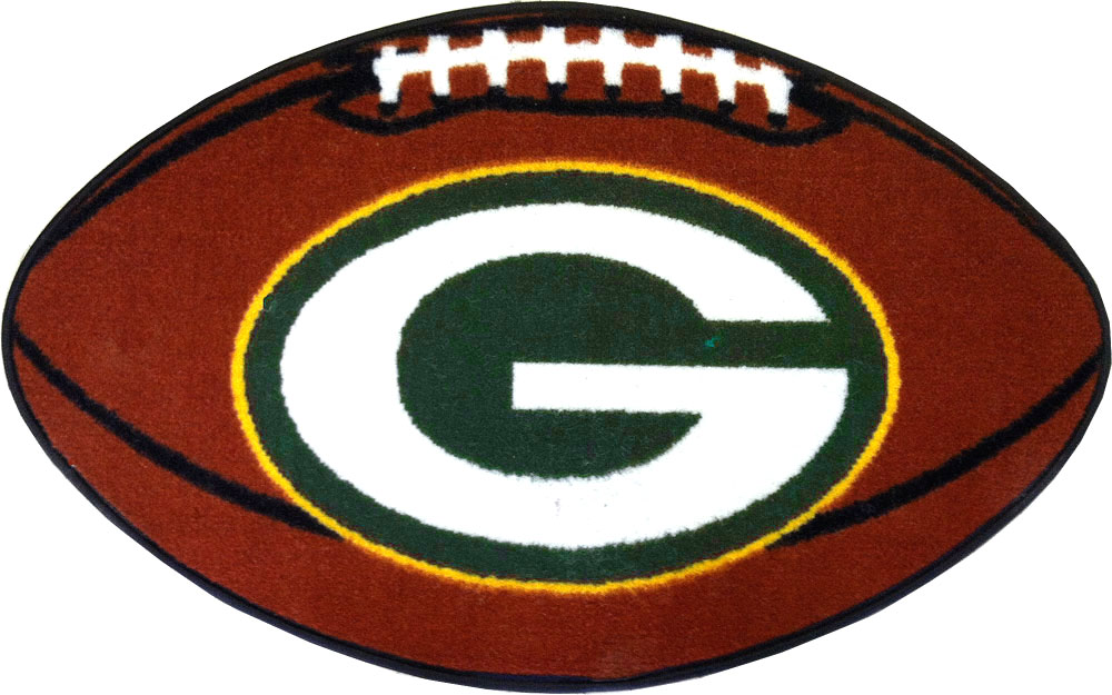 Green Bay Packers Football Rug Nfl Shaped Accent Floor Mat