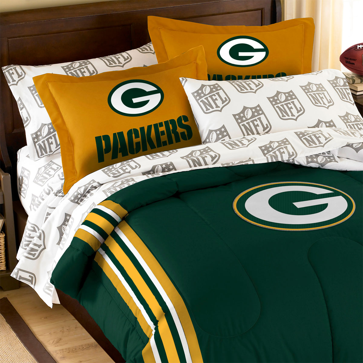 green bay packers bed set nfl green bay packers bedding