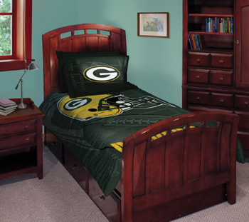 Nfl Green Bay Packers Comforter Set 3pc Bedding Full Bed