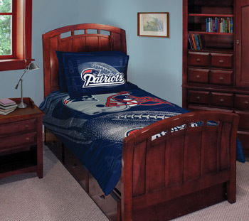 Nfl New England Patriots Comforter Set 3pc Bedding Full Bed