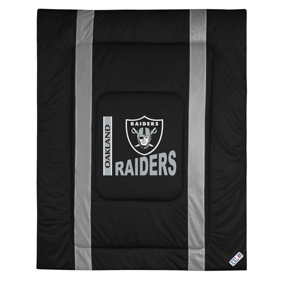 NFL NFL Oakland Raiders Comforter Sidelines Football Bed