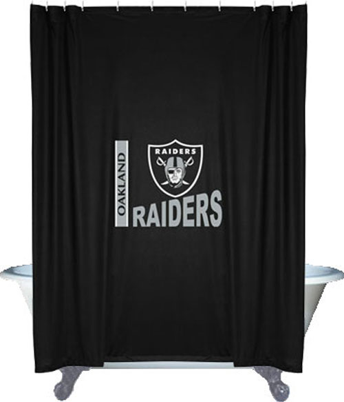 NFL Oakland Raiders Shower Curtain - Football Bathroom Accessories