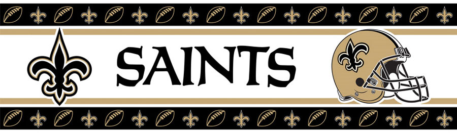 Nfl New Orleans Wall Border Saints Football Border Roll