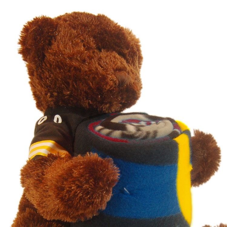 NFL Pittsburgh Steelers Teddy Bear Hugger Throw Blanket Set at Sears.com