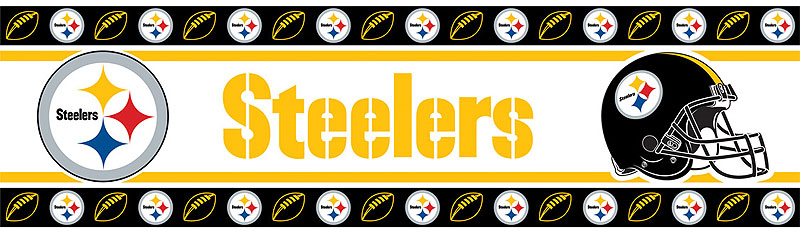 NFL Pittsburgh Steelers Wall Border Roll - Boys Football Wall ...