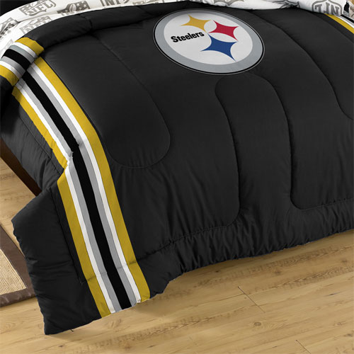 San Diego Chargers Bedding: 3pc NFL Pittsburgh Steelers Comforter Set