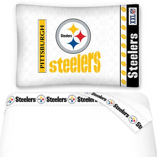 NFL Pittsburgh Steelers Bed Accessories Twin Sheet Set Football Sheets Decor