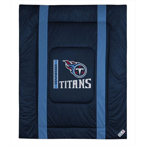 NFL Tennessee Titans Comforter Sidelines Football Bed